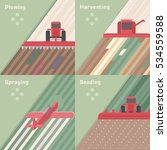 types of agricultural work in... | Shutterstock .eps vector #534559588