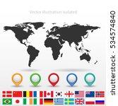 world map | Shutterstock .eps vector #534574840