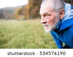 senior runner in nature. man... | Shutterstock . vector #534576190