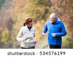 beautiful senior couple running ... | Shutterstock . vector #534576199