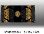 wedding invitation card... | Shutterstock .eps vector #534577126