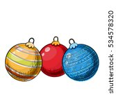 colorful sketch of christmas...   Shutterstock .eps vector #534578320