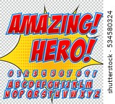 creative high detail comic font.... | Shutterstock .eps vector #534580324