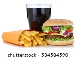 cheeseburger hamburger and...   Shutterstock . vector #534584590
