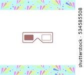 3d glasses vector icon on white ... | Shutterstock .eps vector #534585508