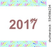 year 2017 vector icon on white... | Shutterstock .eps vector #534586234