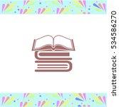 book vector icon on white... | Shutterstock .eps vector #534586270