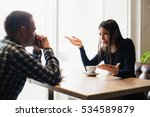 young couple arguing in a cafe. ... | Shutterstock . vector #534589879