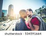 Homosexual Couple At A Romanti...