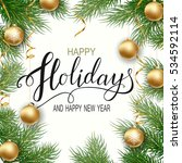 holidays greeting card for... | Shutterstock .eps vector #534592114