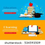 set of web banners. education... | Shutterstock .eps vector #534593509