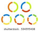 set pie chart  graphs in 2 3 4... | Shutterstock .eps vector #534595438