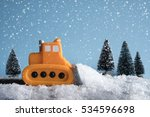 Snow Plow. Toy Car In A Little...