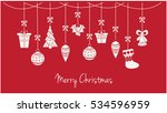 merry christmas greeting card... | Shutterstock .eps vector #534596959