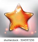 golden christmas star. glossy...   Shutterstock .eps vector #534597250