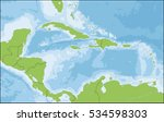 the caribbean is a region that... | Shutterstock . vector #534598303