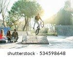group of multiracial friends... | Shutterstock . vector #534598648