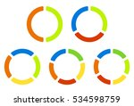 set pie chart  graphs in 2 3 4... | Shutterstock .eps vector #534598759
