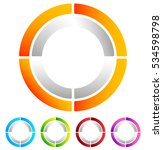 segmented circle abstract icon. ... | Shutterstock .eps vector #534598798