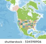 usa  commonly referred to as... | Shutterstock . vector #534598906
