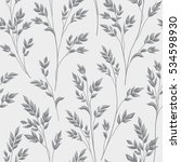 floral pattern with branch and... | Shutterstock .eps vector #534598930