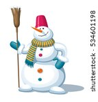 christmas snowman with the... | Shutterstock .eps vector #534601198