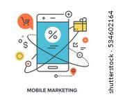 mobile marketing concept | Shutterstock .eps vector #534602164
