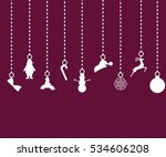 christmas decorations of paper...   Shutterstock .eps vector #534606208