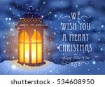 christmas greeting card with... | Shutterstock .eps vector #534608950