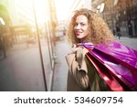 close up of a happy woman... | Shutterstock . vector #534609754