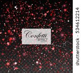 red confetti glitters and stars.... | Shutterstock .eps vector #534612214