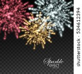 fireworks isolated on... | Shutterstock .eps vector #534612394