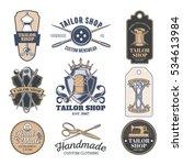 set of vector tailor emblem ... | Shutterstock .eps vector #534613984