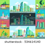 vector illustration of city... | Shutterstock .eps vector #534614140