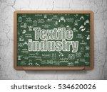 industry concept  chalk white...   Shutterstock . vector #534620026