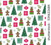retro christmas pattern | Shutterstock .eps vector #534622684