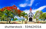 scenery of beautiful mauritius... | Shutterstock . vector #534624316