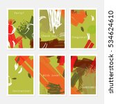 abstract textured strokes... | Shutterstock .eps vector #534624610