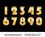 gold numbers set. golden... | Shutterstock .eps vector #534626113