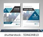 blue annual report brochure...   Shutterstock .eps vector #534634813