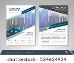 blue annual report brochure... | Shutterstock .eps vector #534634924