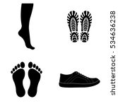 boots and footprints icons... | Shutterstock .eps vector #534636238