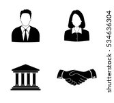 businessman and businesswoman... | Shutterstock .eps vector #534636304
