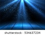 stage light and blue glitter... | Shutterstock . vector #534637234