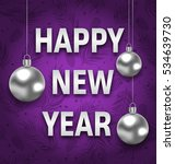 illustration happy new year... | Shutterstock .eps vector #534639730