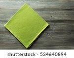cloth napkin on rustic wooden... | Shutterstock . vector #534640894