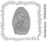 fingerprint  black  vector icon | Shutterstock .eps vector #534641833