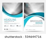 brochure or flyer design... | Shutterstock .eps vector #534644716