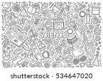 vector hand drawn doodle... | Shutterstock .eps vector #534647020