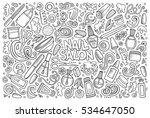 vector hand drawn doodle... | Shutterstock .eps vector #534647050